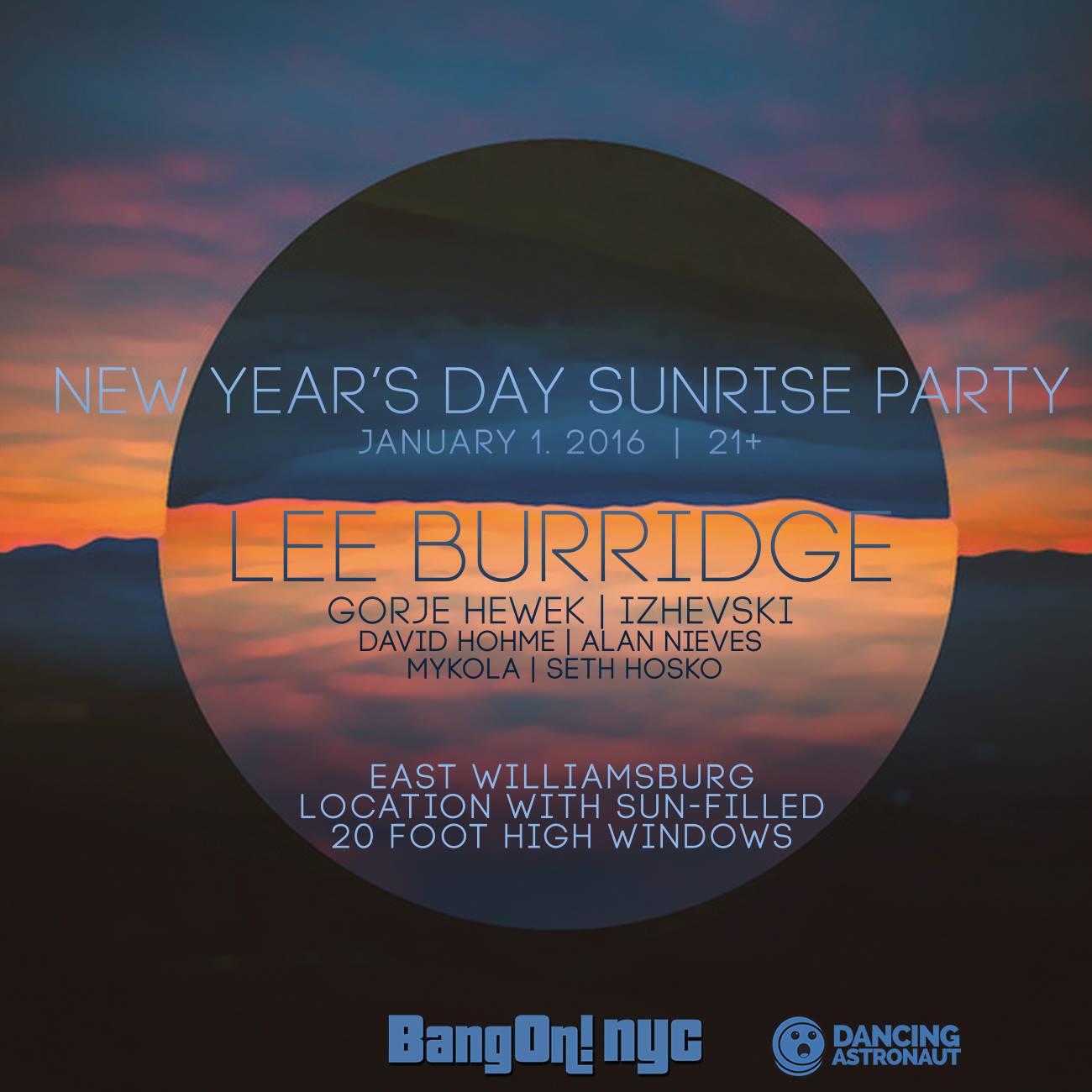 DA Exclusive: New Year's Day Sunrise Party with Lee Burridge mixed by Gorje Hewek & Izhevski12273696 905777476173255 88995669935846155 O